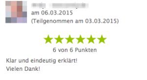 Webinar Bewertung
