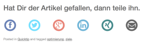 Social Sharing Buttons für onPage SEO