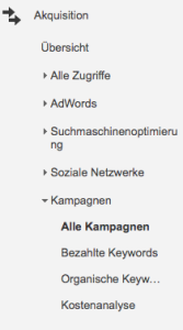 Google Analytics Kampagnenauswertung