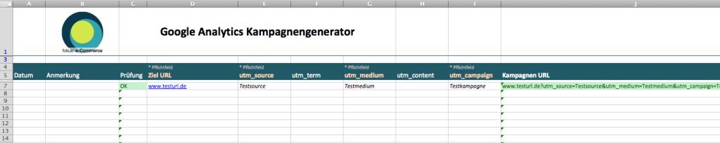 Google Analytics Kampagnenlink Generator