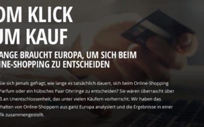 [Infografik] – Vom Klick zum Kauf – So lange braucht Europa, um sich beim Online-Shopping zu entscheiden
